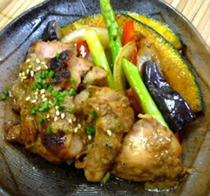 鶏の甘酒照り焼き