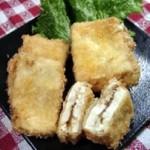 豆腐のピリ辛チーズフライ