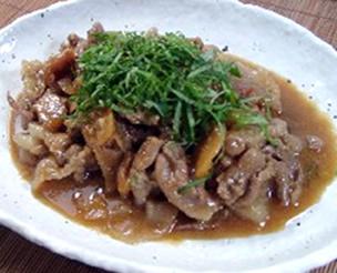 豚肉の梅みそ煮