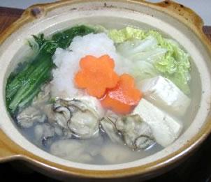 牡蠣と豆腐の雪鍋