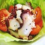 ポン酢で魚介とトマトのイタリアンマリネ
