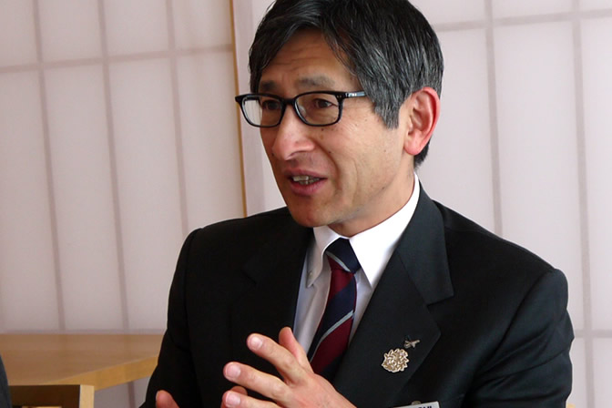 菊水酒造代表取締役髙澤社長