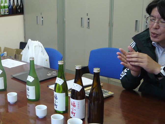 代表銘柄「福小町」 ご案内頂いた木村酒造 石川執行役員営業部長様