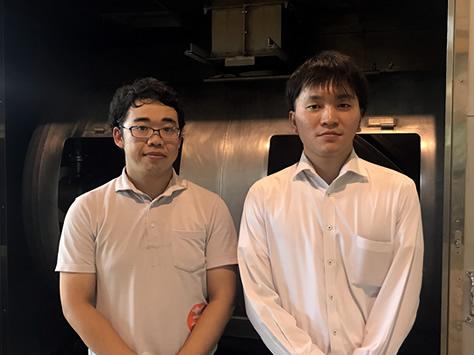 左:杜氏 山本部長 右:営業 田原さん