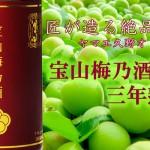 鹿児島県 西酒造より、ヤマエ久野オリジナル「宝山 梅乃酒 三年熟成」発売